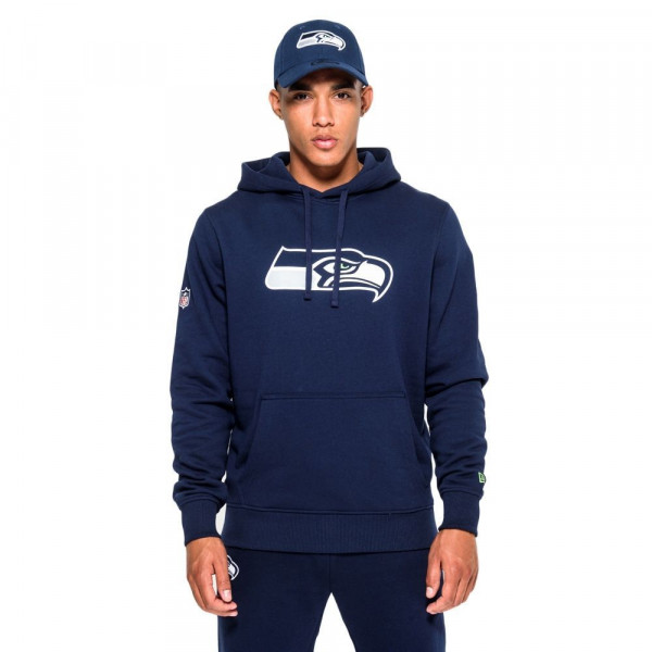 Seattle Seahawks Logo Hoodie New Era NFL Sweatshirt Navy