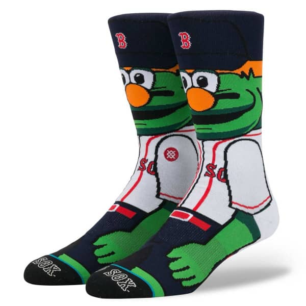 Boston Red Sox Wally The Green Monster Maskottchen MLB Socken
