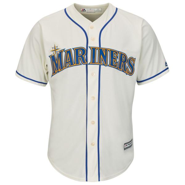 Seattle Mariners Cool Base MLB Trikot Alternate Ivory