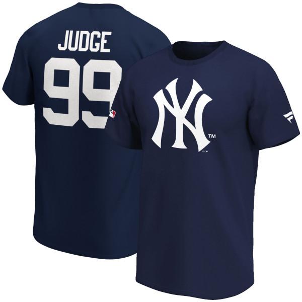 Aaron Judge #99 New York Yankees Fanatics Iconic Player MLB T-Shirt Navy