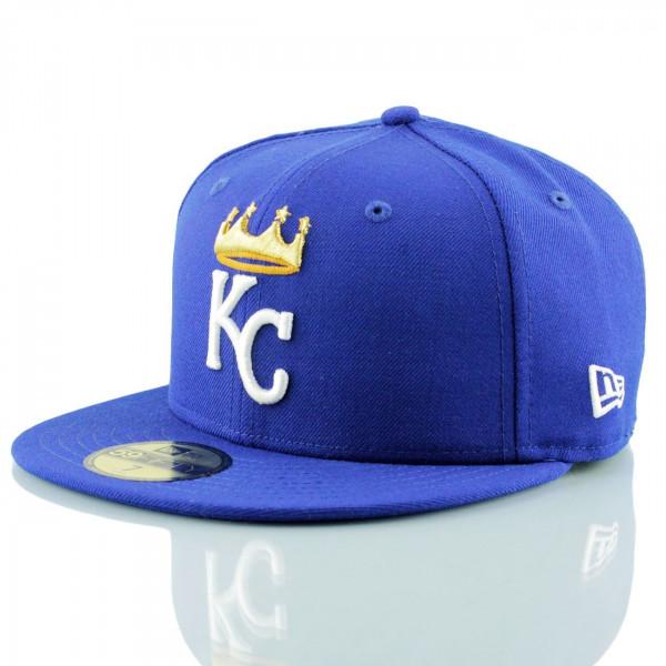 size 40 a6716 41cd3 New Era Kansas City Royals Crown Logo 59FIFTY Fitted MLB Cap   TAASS.com  Fan Shop