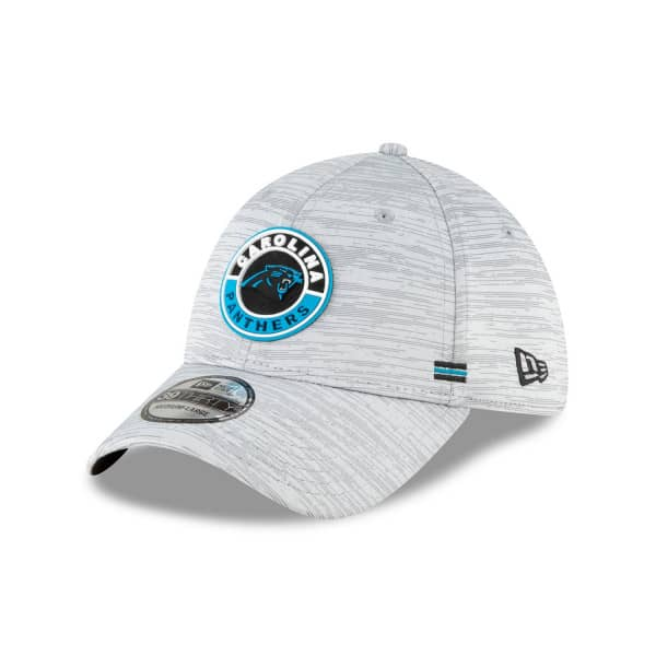 Carolina Panthers Official 2020 NFL Sideline New Era 39THIRTY Flex Cap Road