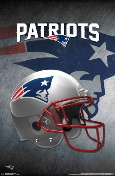 New England Patriots Helmet Football NFL Poster