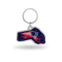 New England Patriots State Shaped NFL Schlüsselanhänger