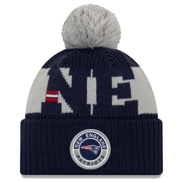 New England Patriots Official 2020 NFL Sideline New Era Sport Knit Wintermütze