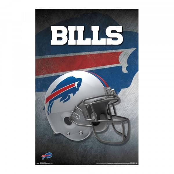 Buffalo Bills Helmet Football NFL Poster