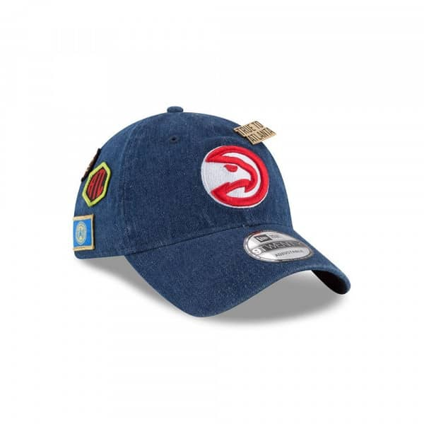 Atlanta Hawks 2018 NBA Draft 9TWENTY Adjustable Cap Denim