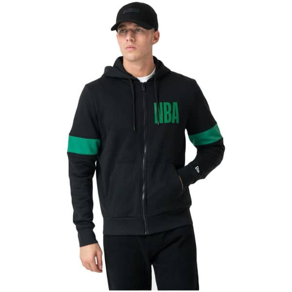 Boston Celtics NBA Front Full-Zip Hoodie