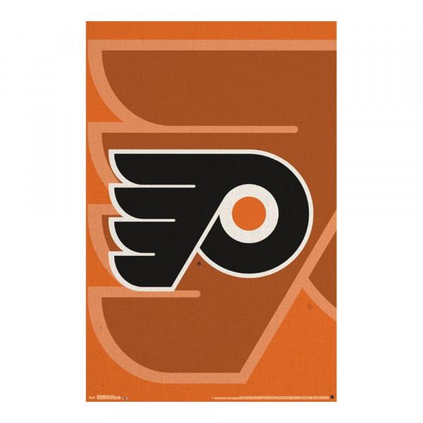 Philadelphia Flyers Team Logo Eishockey NHL Poster