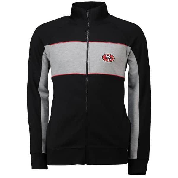 San Francisco 49ers Cut & Sew Full Zip NFL Track Jacket
