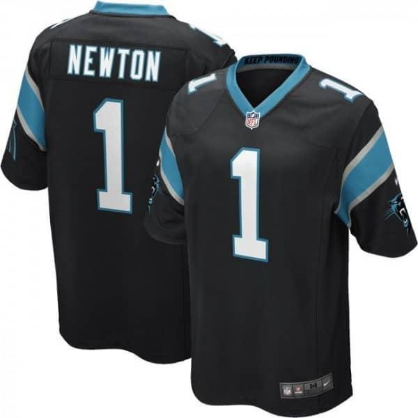 Cam Newton #1 Carolina Panthers Game Football NFL Trikot Schwarz