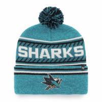 San Jose Sharks Cuff Pom '47 Ice Knit NHL Wintermütze
