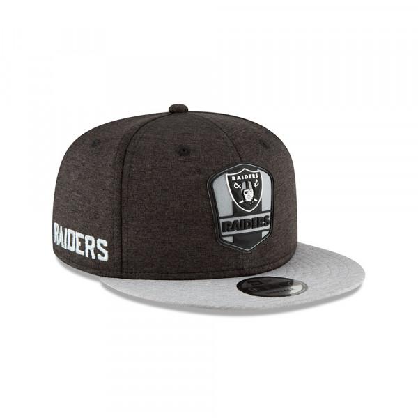 Oakland Raiders 2018 NFL Sideline 9FIFTY Snapback Cap Road