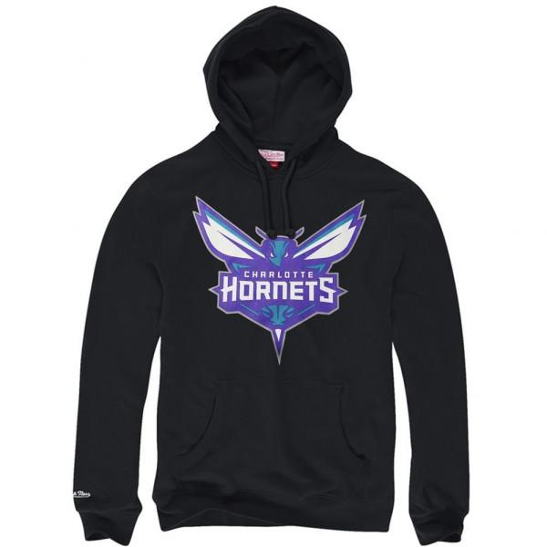 the latest 7e26a 7abec Mitchell   Ness Charlotte Hornets Logo NBA Sweatshirt Hoodie Black   TAASS.com  Fan Shop