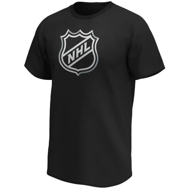 NHL Shield Fanatics Core Logo Eishockey T-Shirt Schwarz