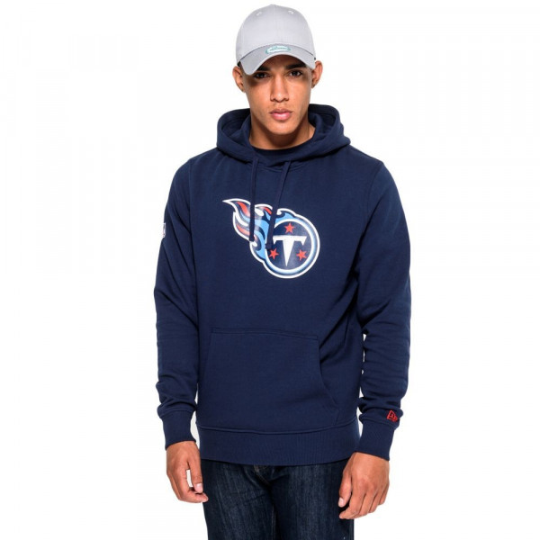 Tennessee Titans Logo Hoodie NFL Sweatshirt Navy
