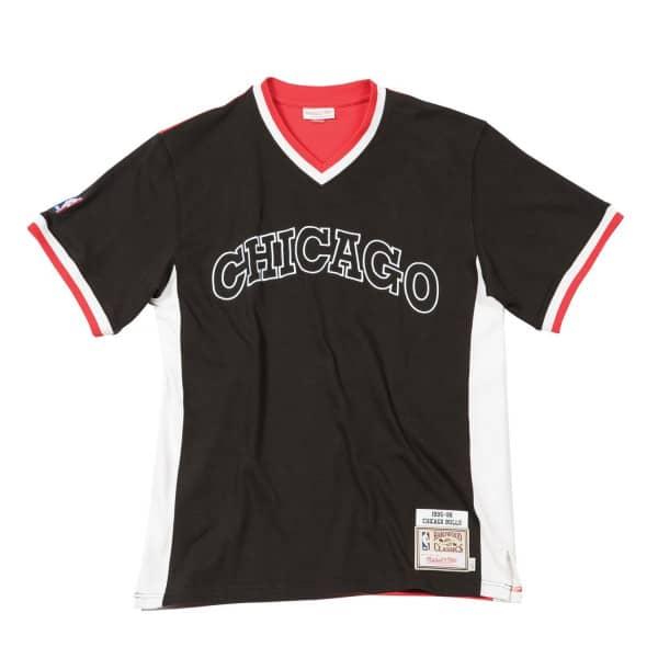 538885689 Mitchell   Ness Chicago Bulls 1995-96 Authentic Shooting Shirt Black ...