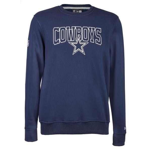 online store cc04d 8902e New Era Dallas Cowboys Script Crewneck NFL Sweatshirt Navy   TAASS.com Fan  Shop