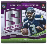 2017 Panini Spectra Football Hobby Box NFL