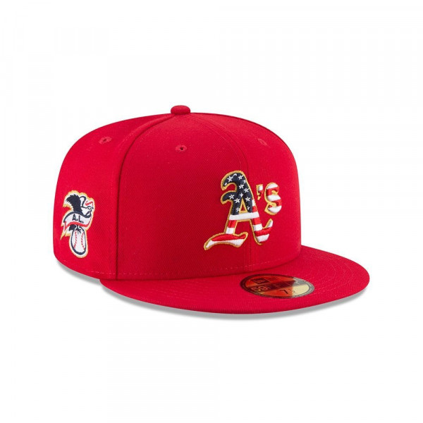 d6a94f8c8ae08 New Era Oakland Athletics 4th of July 2018 59FIFTY Fitted MLB Cap ...