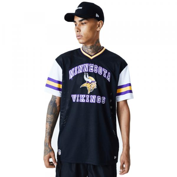 Minnesota Vikings New Era Arch Stripe Oversized Mesh NFL Fantrikot