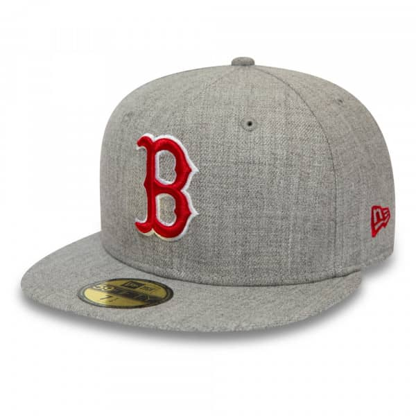 Boston Red Sox Heather 59FIFTY Fitted MLB Cap Grau