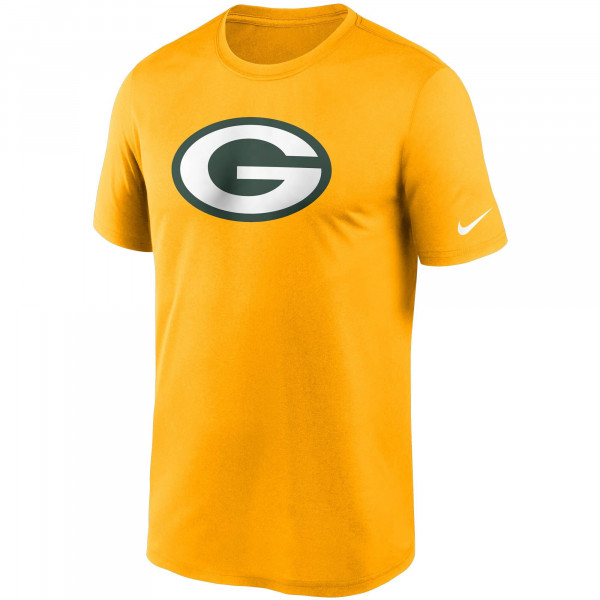 Green Bay Packers NFL Logo Performance Nike Legend T-Shirt Gelb