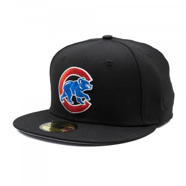 huge selection of 001c0 3483d New Era Chicago Cubs Alternate Logo 59FIFTY Fitted MLB Cap Black    TAASS.com Fan Shop