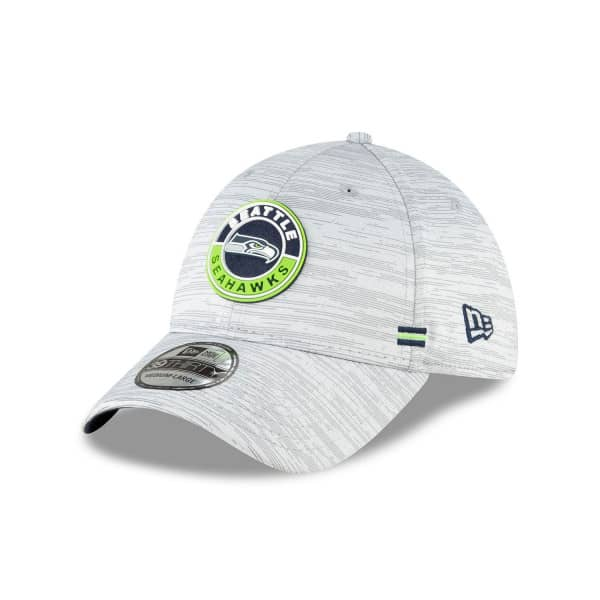 Seattle Seahawks Official 2020 NFL Sideline New Era 39THIRTY Flex Cap Road