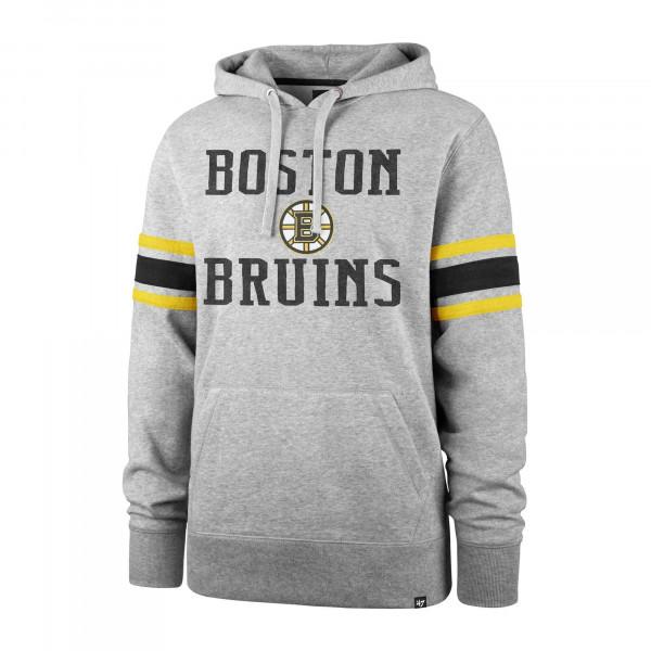 Boston Bruins Stripe Sleeve '47 Double Block NHL Hoodie Grau