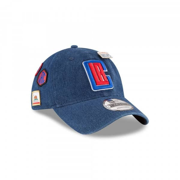 a610828dc13e8 New Era Los Angeles Clippers 2018 NBA Draft 9TWENTY Adjustable Cap Blue  Denim