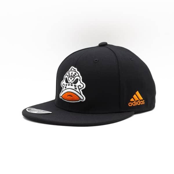 Anaheim Ducks Mascot Logo adidas NHL Snapback Cap Schwarz