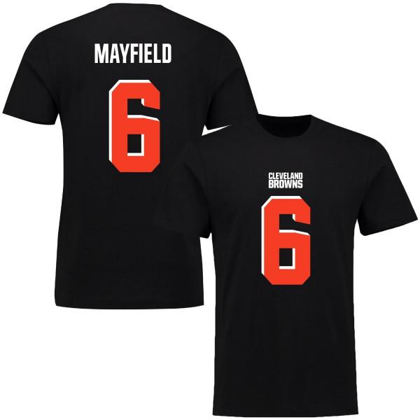 Baker Mayfield #6 Cleveland Browns Player Script NFL T-Shirt