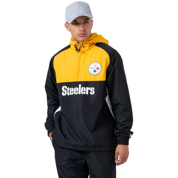 Pittsburgh Steelers 2019 Color Block NFL Windbreaker Jacke