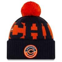 "Chicago Bears ""C"" Official 2020 NFL Sideline New Era Sport Knit Wintermütze"