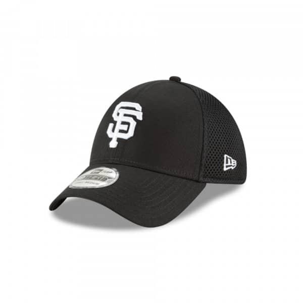 San Francisco Giants Black & White Neo 39Thirty Stretch Fit MLB Cap