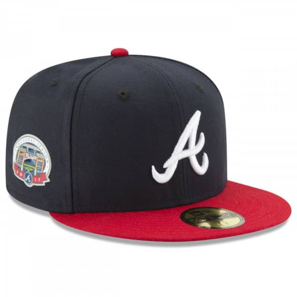 Atlanta Braves Authentic 59FIFTY Fitted MLB Cap /w Inaugural Season Patch