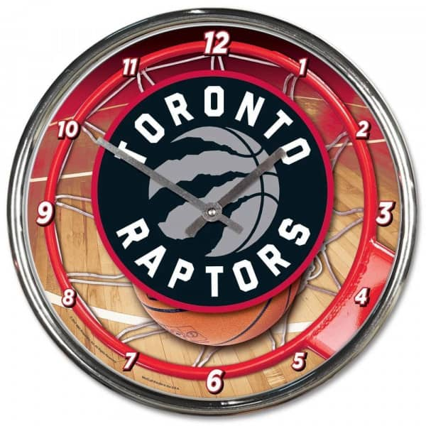 Toronto Raptors Chrome NBA Wanduhr