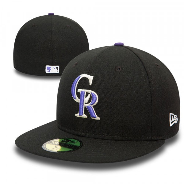 fabb8be3d7c New Era Colorado Rockies 59FIFTY TSF Fitted MLB Cap Game