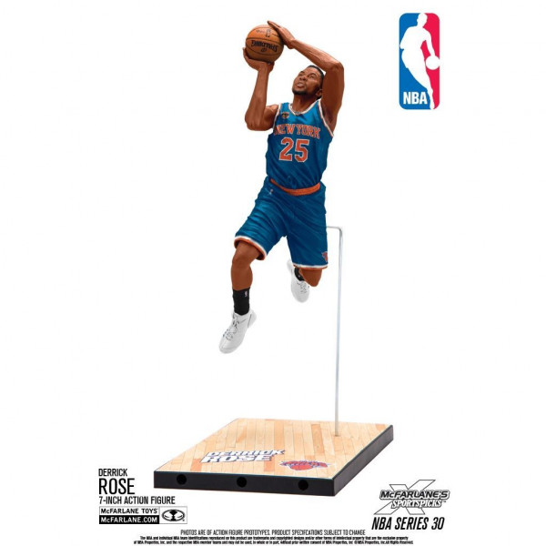 NBA Series 30 Derrick Rose New York Knicks Basketball Figur (16 cm)
