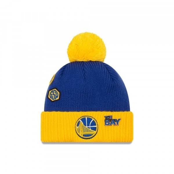 new style dc598 61767 New Era Golden State Warriors 2018 NBA Draft Knit Hat   TAASS.com Fan Shop