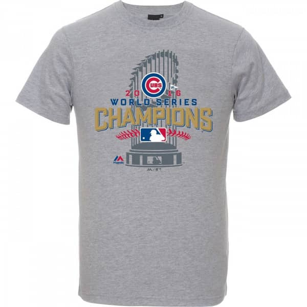 Chicago Cubs 2016 World Series Champs Trophy MLB T-Shirt