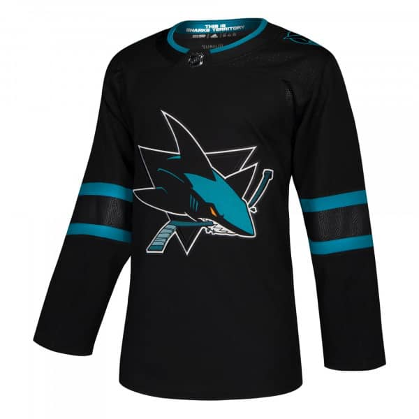 San Jose Sharks adidas Authentic Pro NHL Trikot Alternate Schwarz