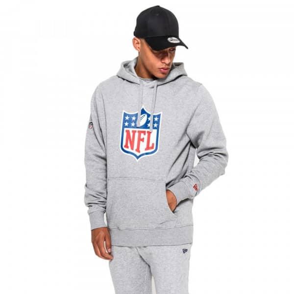 72a022a05 New Era NFL Shield Logo Hoodie NFL Sweatshirt Grey
