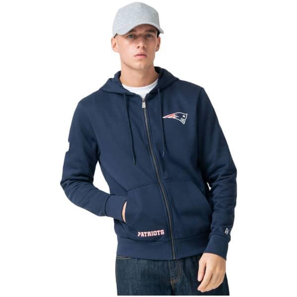 New England Patriots Team Logo Wordmark Full-Zip NFL Hoodie