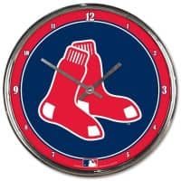 Boston Red Sox Chrome MLB Wanduhr