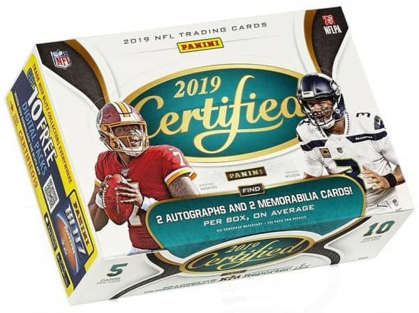 2019 Panini Certified Football Hobby Box NFL