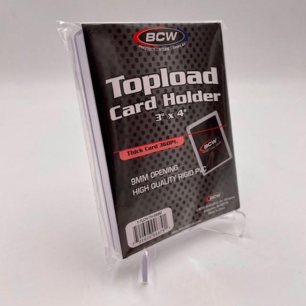 """BCW Toploader 3""""x4"""" Premium Standard Card Holder - 20pt Cards (25 Stk.)"""