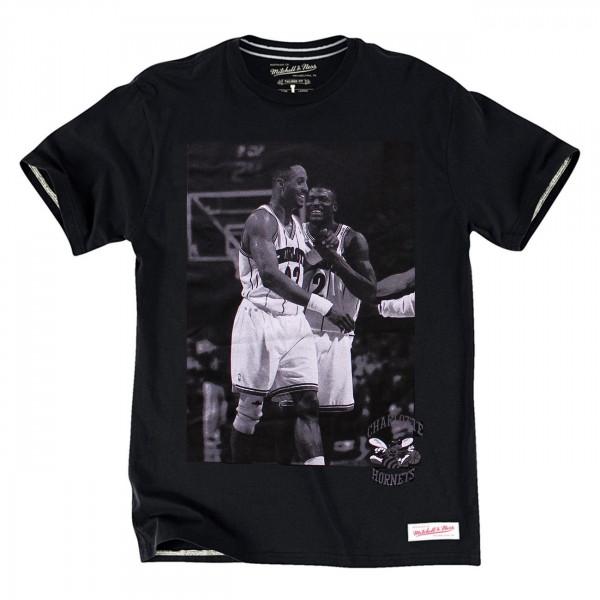 Charlotte Hornets Johnson & Mourning Player Photo NBA T-Shirt