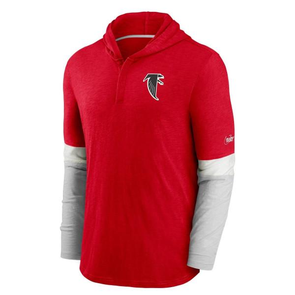 Atlanta Falcons 1966 NFL Historic Nike Long Sleeve Henley Hoodie